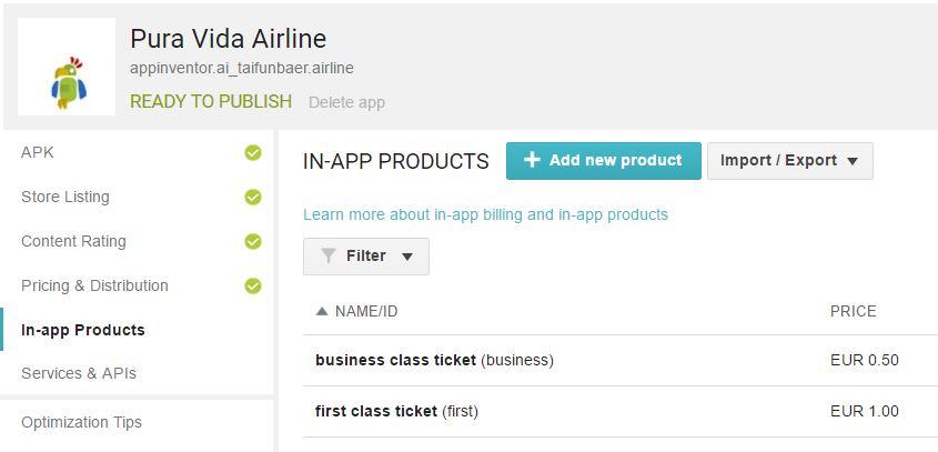 App Inventor Extensions: Billing | Pura Vida Apps