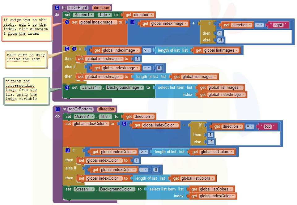 App Inventor Code Snippets | Pura Vida Apps