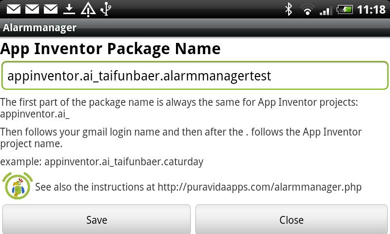 App Inventor Tutorials and Examples: Alarmmanager | Pura