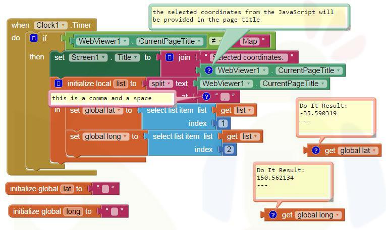App Inventor Tutorials and Examples: Coordinates | Pura Vida Apps