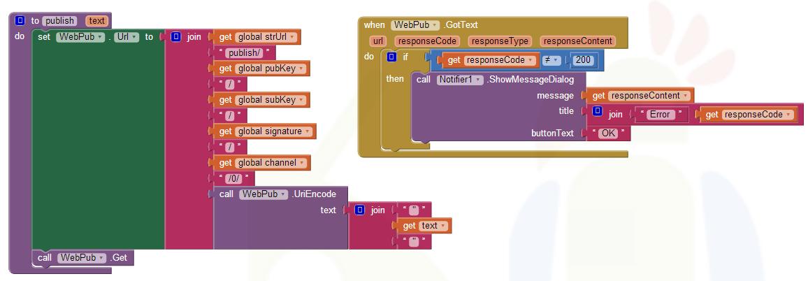 App Inventor Tutorials and Examples: PubNub Chat | Pura Vida