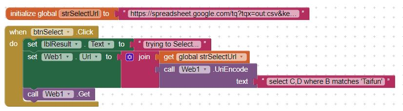 App Inventor Tutorials and Examples: Google Spreadsheet